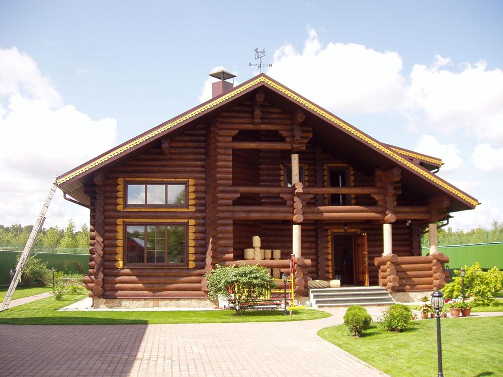 Срубовые дома фото