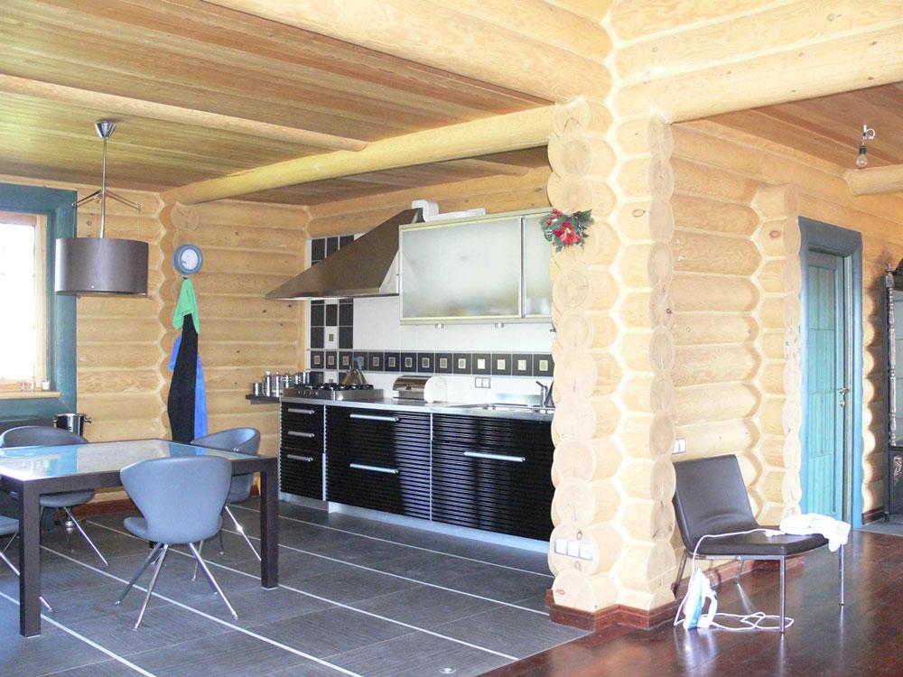 Рубленный дом дизайн